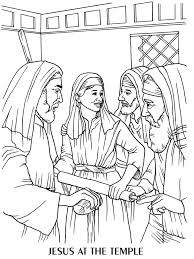 Young Jesus In The Temple Coloring Page