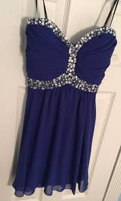awesome nwt blue strapless embellished short homecoming cocktail