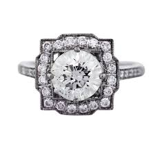 deco square rings the newest trend deco vintage style engagement rings