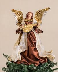 Bronze And Gold Christmas Angel Tree Topper Main
