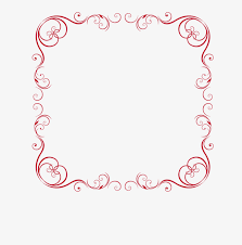 Red Border Chart Frame Decorative Pattern Vector Borders PNG