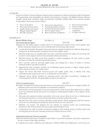 Gallery Of Sample Resume For Manufacturing Technician