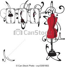 Frame And Fashion Design Vector