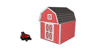 10x12 Gambrel Storage Shed Plans by Barn Shed Plans Howtospecialist How To Build Step By Step Diy