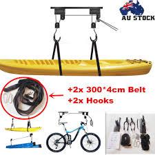 Garage Ceiling Kayak Hoist by Kayak Hoist Pulley System Bike Lift Garage Ceiling Storage Rack