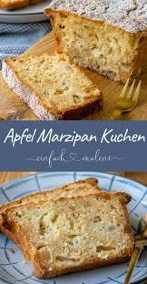 saftiger apfel marzipan kuchen einfach malene apfel