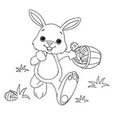 Coloring Page Of Happy Easter Bunny