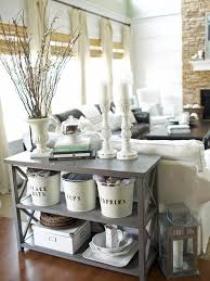 Beautiful Country Cottage Style Living Room Decorations With Stainless Steel Buckets And Lantern
