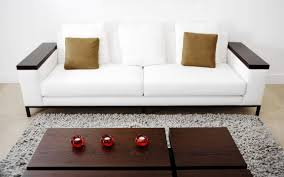 Black Leather Sofa Decorating Ideas by Agreeable Decorating Ideas Using Rectangular Black Wooden Tables