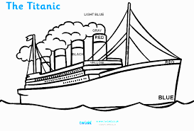 Lovely Titanic Coloring Pages 59 For Online With