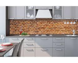 küchenrückwand folie alte ziegelwand 260 x 60 cm dimex