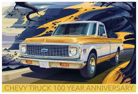 CHEVROLET TRUCK 100 YEAR ANNIVERSARY POSTER 1971 C10 FL On Behance Ride Guides A Quick Guide To Identifying 196772 Chevrolet Gm Celebrates 100 Years Of Trucks With New Special Editions Chevy Introduces Anniversary Trucks At Texas State Fair Pressroom United States Images Pickups With Ctennial Edition 2018 Silverado 1500 Ancipating A Full Redesign For 1949 3100 Year My Birth We Were Meant Be Together 1967 C10 Street Truck Zl1 2016 Goodguys Marks Years Making Pickups Special