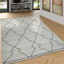 rug scandi look with ethnic pattern in