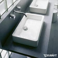 duravit vero countertop washbasin ground white with wondergliss