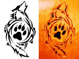 Easy Wolf Pumpkin Carving Stencils by Wolf Tribal Tribal Wolf Carving By Satoshisdarkchan On