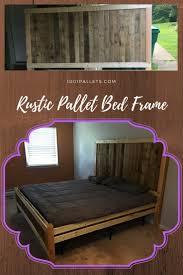 Pallet Bed Frame by Rustic King Size Pallet Bed Frame U2022 1001 Pallets