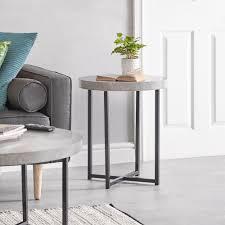 100 Contemporary Furniture Pictures VonHaus ConcreteLook Round Side Table Modern Lightweight