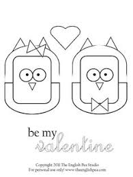 Valentine Owl Coloring Pages