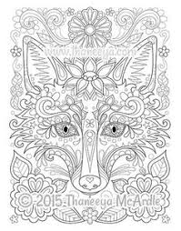 Fox From Free Spirit Coloring Book By Thaneeya