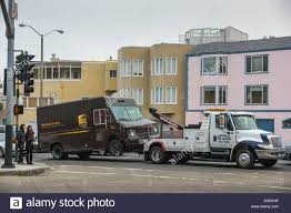 100 Tow Truck San Francisco A UPS Security Delivery Van Needs A Towin
