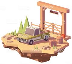 100 Pickup Truck Warehouse Vector Low Poly Stock Vector Art More Images Of 4x4