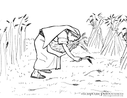 Ruth Bible Coloring Pages Rebecca