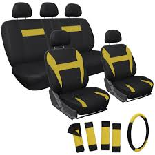 Amazon.com: OxGord 17pc Set Flat Cloth Mesh Yellow Black Auto Seat ... Autozone Truck Seat Covers Velcromag Custom Car Seat Covers For Pickup Trucks Amazoncom Bdk Hunting Pink Camo 2 Front Bench Toyota Truck Bench Seat For Wet Okole High Quality Durable Chevy Bucket 12007 Ford F2f550 2040 Split With Adjustable Pickup Trucks Seats 86 Cute Interior And S Camouflage For Built In Belt