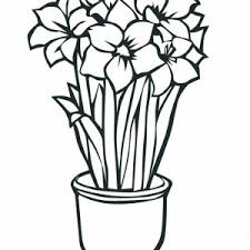 Growing Flower For Bouquet Coloring Page