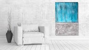 acrylmalerei abstrakt betonlook grau türkis abstrakte malerei acrylbild unikat handgemalt wandbild leinwandbild acryl auf leinwand malerei