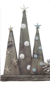 Driftwood Christmas Trees by Coastal Wood Christmas Tree Set Of 2 Project Cottage