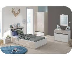 chambre enfan chambre enfant iléo blanche et bois set de 5 meubles
