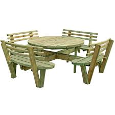 Round 8 Seat Picnic Table & Backs   Pressure Treated   Free Delivery ... Ding Room Bernhardt Buy 8 Seat Bar Pub Tables Online At Overstock Our Best Fniture Table Sets Mathis Ashley Dinette Inviting Ideas Seat Table 2 Trade Sales High Top Brilliant Kitchen Wooden Chairs And Amazoncom Asher Amada Patio Wood Pnic Beer Essentials Small Legionsportsclub 90 Round Mahogany Radial With Jupe Patent Action Brackenstyle Brown Bench Seater Garden