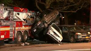100 Fire Truck Accident FDNY Fire Truck Jumps Curb Hits Vehicles In Brooklyn When