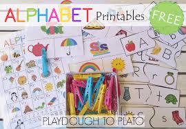Free Alphabet Printables Playdough To Plato