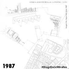 100 Enric Miralles Architect Fnd On Twitter Biogr 1987