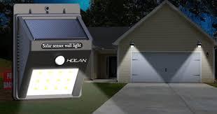 holan solar powered motion sensor led light as low as