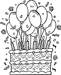 Birthday Cake Coloring Pages For