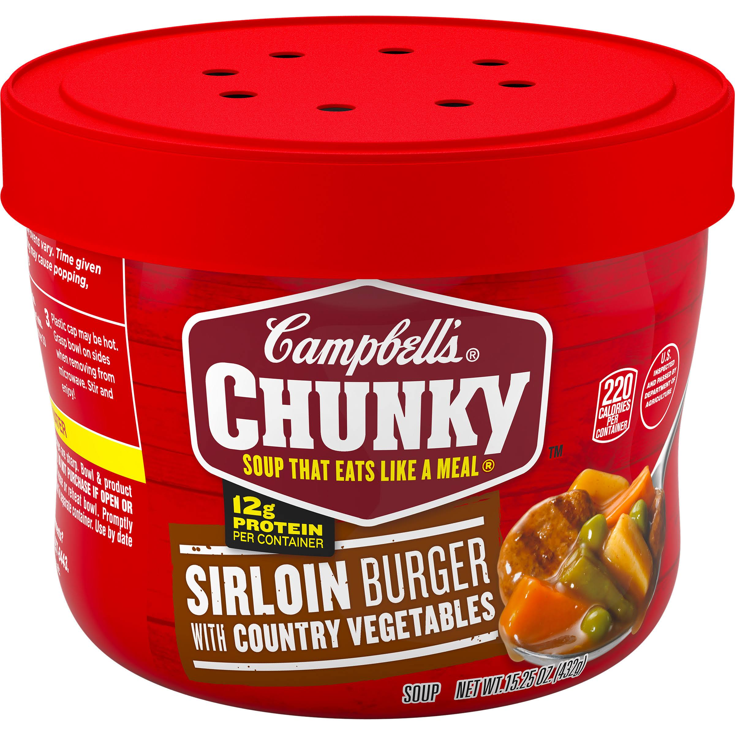 Campbell's Chunky Soup - Sirloin Burger with Country Vegetables, 15.25oz, 8 Pack