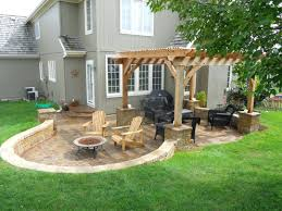 Patio Ideas ~ Enclosed Patio Ideas On A Budget Backyard Patio ... Deck Patio Maryland Exterior Stone Half Wall With Iron Chairs And Round Table Plus Ideas Diy For A Sloped Backyard Home Garden Decor Wonderful Landscaping Sloping Front Yard Pictures Design Enclosed On Budget Need Please Steep Slope Inside Backyards Innovative Best About Picture How To Landscape A Diy Raised Patio With Steps Down Second Space Two Level Amazing Plan That You Should Consider