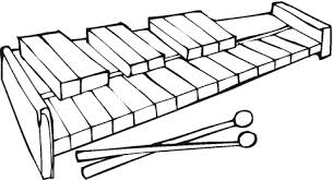 Click To See Printable Version Of Xylophone Coloring Page