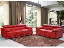 couchgarnitur leder 3 2 macelo rot