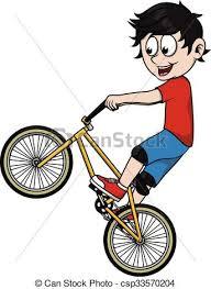 Ni±o montar a caballo de la bicicleta clipart vectorial Buscar