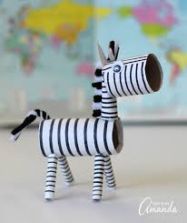 Cardboard Tube Zebra A Great Recycled Project Kids Will Love