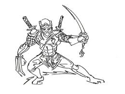 Ninja Coloring Pages Colouring Kids Europe Travel Guides Line Drawings