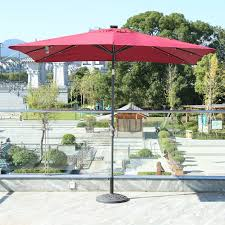 Solar Lighted Rectangular Patio Umbrella by Hampton Bay 11 Ft Solar Led Round Offset Patio Porch Umbrella Sun