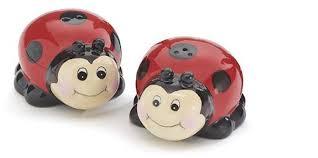 Amazon Whimsical Ladybug Lady Bug Salt And Pepper Shaker Set For Kitchen Decor Dining