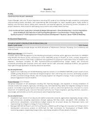 Construction Project Manager Resume Sample Main Image