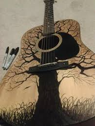Image Result For Painted Guitar