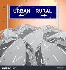100 Rural Design Homes Vs Urban Lifestyle Sign Compares Stock Illustration