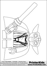 Lightsaber Coloring Page Lego Wars Pages Free